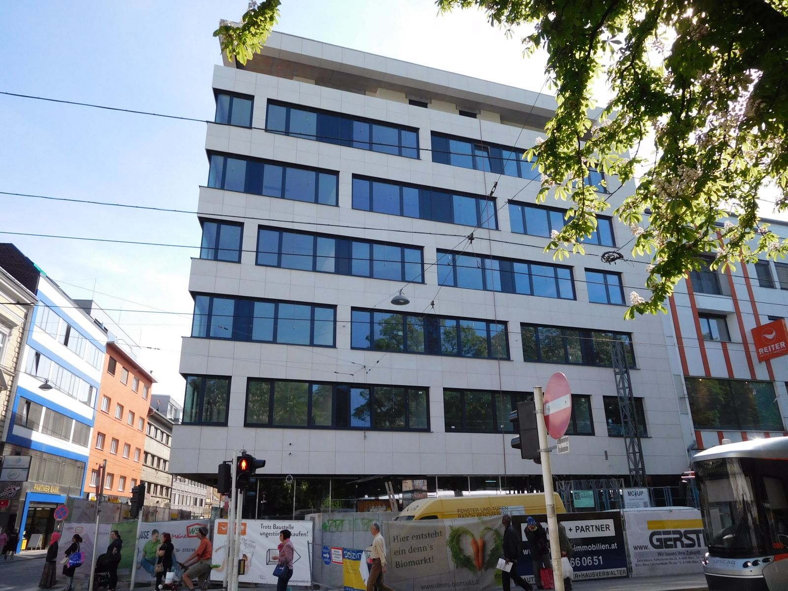 Linz Neubau Ecke Landstrasse Goethestrasse Fertig Skyscrapercity